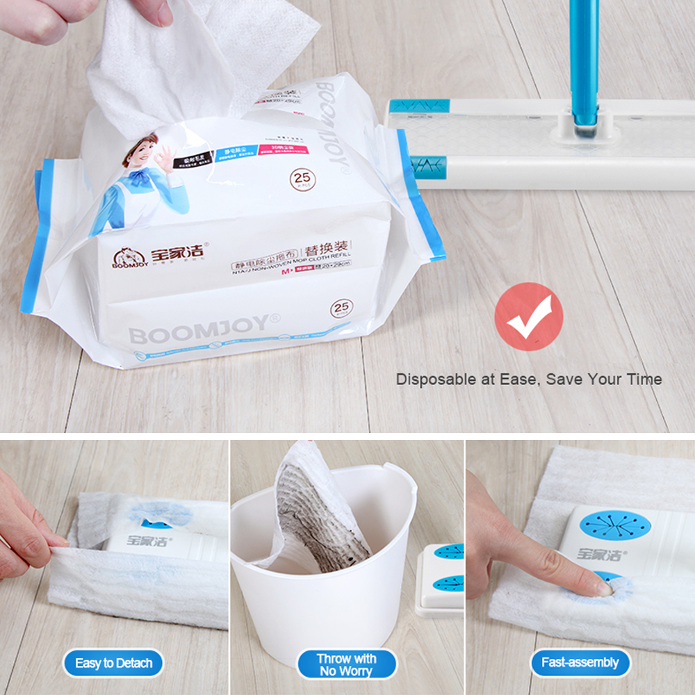 Wood Tile Laminate Floor Cleaner Static Cleaning Mop W30PC Disposable Dry Wipes